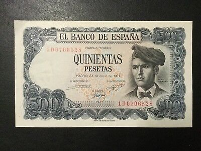 1971 Spain Paper Money - 500 Pesetas Banknote!