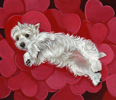 Westie Queen Of Hearts Garden Flag  Free Ship Usa Rescue