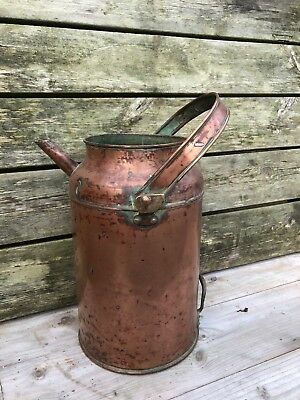 Copper Churn Water Carrier Vintage Antique Garden Feature Watering Can