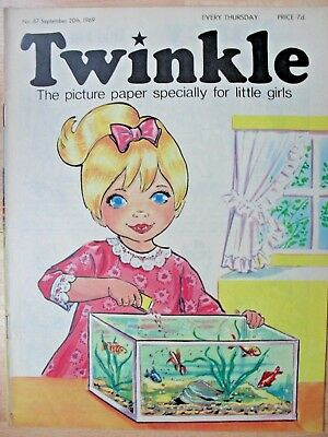 TWINKLE COMIC - 20th SEPTEMBER 1969 (20th - 26th sept) - RARE 50th BIRTHDAY GIFT