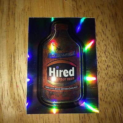 2014 Wacky Packages Chrome Refractor Card Hired Gassy Root Beer 96 Belch Often