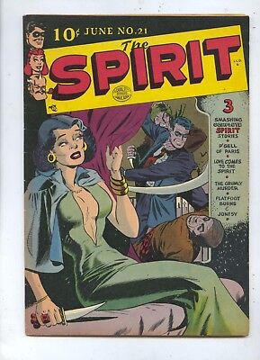 1950 The Spirit #21 Quality Comic Book FN-VF