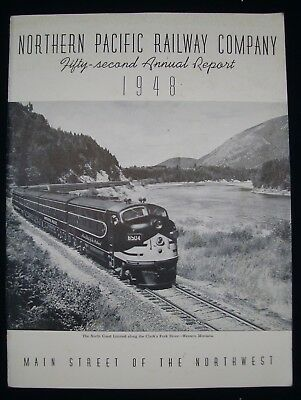 Vintage 1948 Northern Pacific Railway 52nd Annual Report