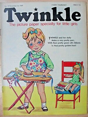 TWINKLE COMIC - 1st NOVEMBER 1969 (1st - 7th nov) - RARE 50th BIRTHDAY GIFT!!