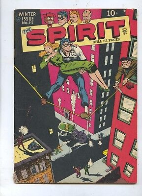 1948 The Spirit #14 Quality Comic Book w/ Classic Cover by Everett FN+
