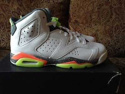 newest collection 23579 cd27c Nike Air Jordan 6 Retro BG White Ghost Green 384665-114 Size 6.5Y
