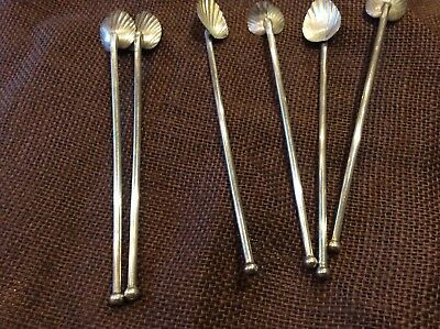 Sterling Silver Ice Tea Spoons/Straws (6)