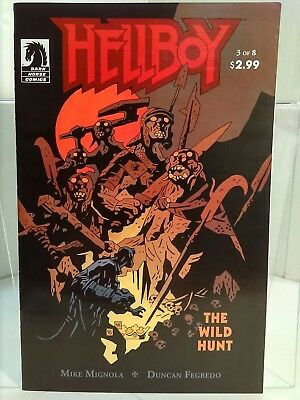 Hellboy: The Wild Hunt #3 (2008) 8.0 VF - 1st Full App of Nimue the Blood Queen