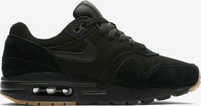 new product 10749 c7030 Womens Kids Nike Air Max 1 One Premium suede black Sneaker Gr38 Neu 90