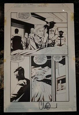 X-Files 23 Charles Adland Topps Original Comic Art Mulder and Skully