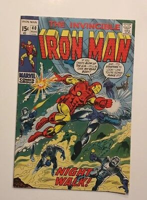 Iron Man Comic #40. NICE!! 1971. Early Bronze Age Gem. Classic Armor. 15¢ Cover