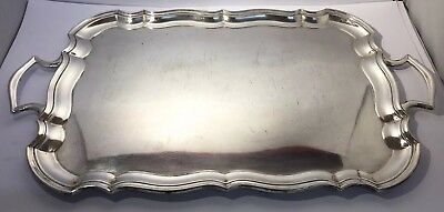 LARGE EPNS SILVER PLATED GALLERY / DRINKS / Serving / TRAY / Platter / 22""