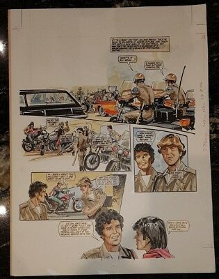 Chips Highway Patrol Tv Related Look In British Weekly Original Comic Art