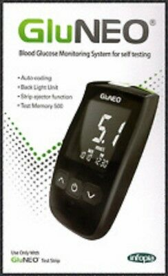 Gluneo Blood Glucose Meter With 1 Strips & 10 Lancets 01/20