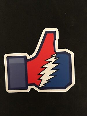 Grateful Dead Thumbs up 4 inch sticker UV protected Free S&H