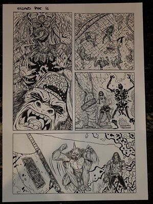 Hillard Independent American Original Comic Art With Signature