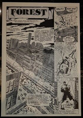 SwiftSure Harrier Comics Forrest Original Comic Art