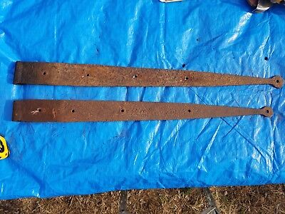 Antique vintage barn door gate strap hinges