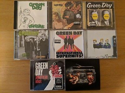 Green Day CD Bundle Lot 8 CD's : American Idiot, Kerplunk, Warning, Nimrod...