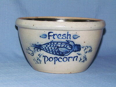 1991 Rowe Stoneware Pottery Fresh Popcorn//mixing Bowl Excellent Condition