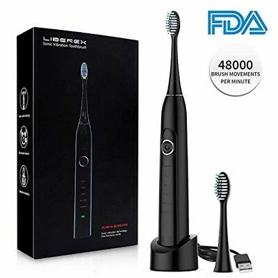 Liberex Sonic Electric Toothbrush MS100 - 5 Modes IPX7 Waterproof with USB Wirel