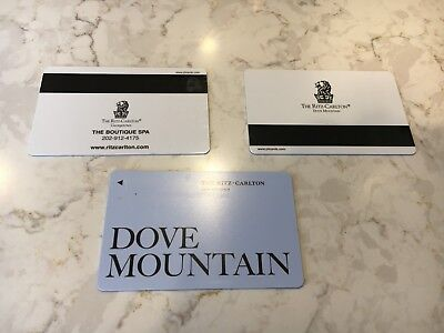 3 Ritz-Carlton hotel room key cards