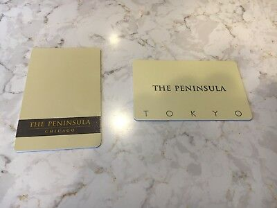 2 Peninsula hotel room key cards Tokyo and Chicago