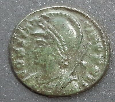 Roman bronze coin. Time of Constantine I the Great.