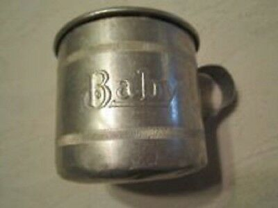 Vintage Tin Baby Cup With Handle