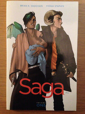 Saga - Volume 1 - Image Comics - Brian K. Vaughan - Fiona Staples (Like New)