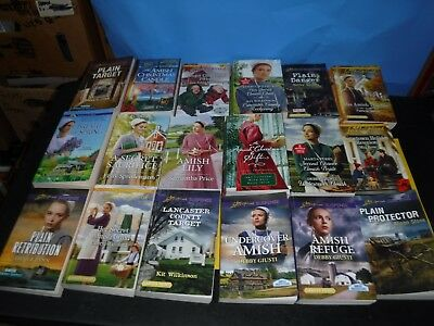 Lot Of 18 Amish Novels By Assorted Authors