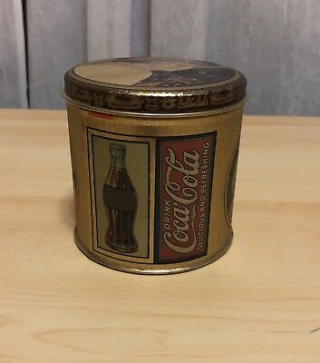 Vintage Advertising Coca Cola Coke Soda Pop Tin Storage Container Ladies