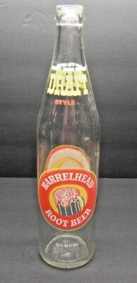 Vintage Barrelhead Root Beer 16 FL OZ Soda Bottle