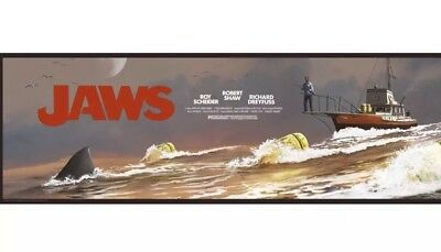 """J.C. Richard Jaws Limited Run Of """"The Chase""""36x12 xx/125"""