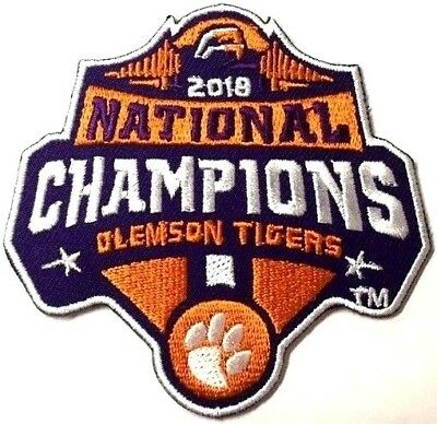 Clemson Tigers National 2018 Champions Patch Football Jersey Iron On Champ Logo