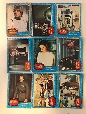 Star Wars Collector Cards Series 1 - 1977 Large Lot