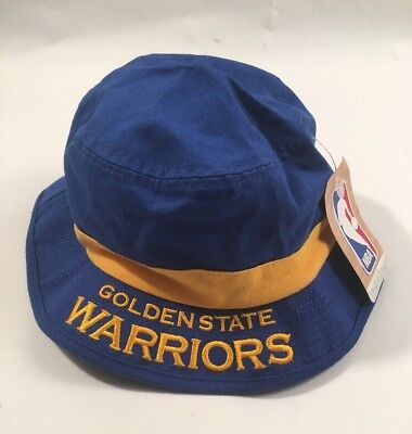 f05729c56 NBA GOLDEN STATE Warriors Adidas Royal Blue Bucket Hat L\XL Authentic NEW