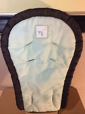 Graco Blossom High Chair Infant Body Support Pad Replacement Part Green Brown
