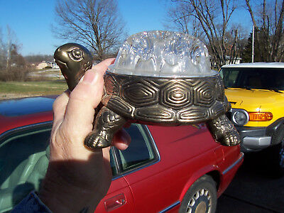 HTF Reims Made in France Flower Frog With Turtle Metal Holder Original Stickers