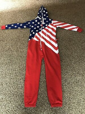 Shinesty Uni Suit US Flag Adult Size XL. Great condition.