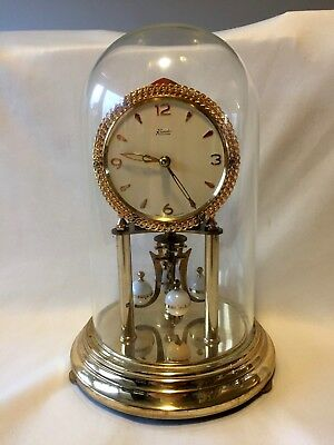 Vintage Kundo 400 Day Anniversary Perpetual Clock / Key & Glass Dome Boxed
