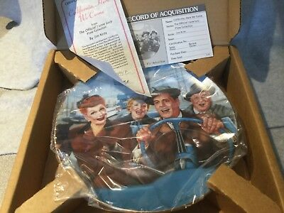 """NIB I LOVE LUCY! HAMILTON COLLECTION """"California, Here We Come"""" by Jim Kritz"""