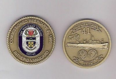 USS Whidbey Island  US Navy Ship  Challenge Coin  LSD 41
