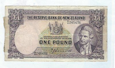 New Zealand -  One (1) Pound, 1940-55