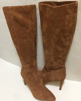 922b02d3818 SAM EDELMAN OLENCIA Suede Luggage Brown Knee High Boots 8.5 -  89.00 ...