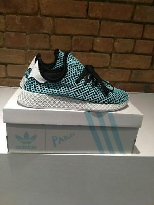 e6ae525fa Adidas Deerupt Runner Parley Shoes Style Cq2623 Color Black blue Spirit