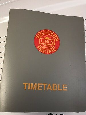 Southern Pacific Co. Employees Timetable Binder MINT!
