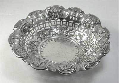Victorian hallmarked Sterling Silver Bonbon/Sweetmeat Dish – 1894  (85g)