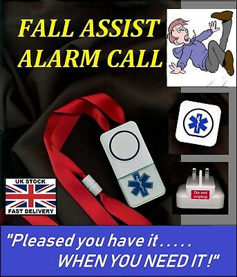 ASSIST ALARM CALL~ MAINS (cordless) NO BATTERIES REQUIRED*)  ~ 250m range !
