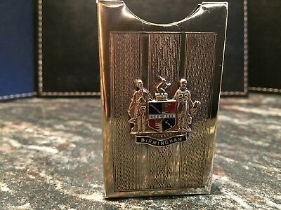 Small Business / Calling Card Case - Birminham Coat Of Arms 20's - 30's ?